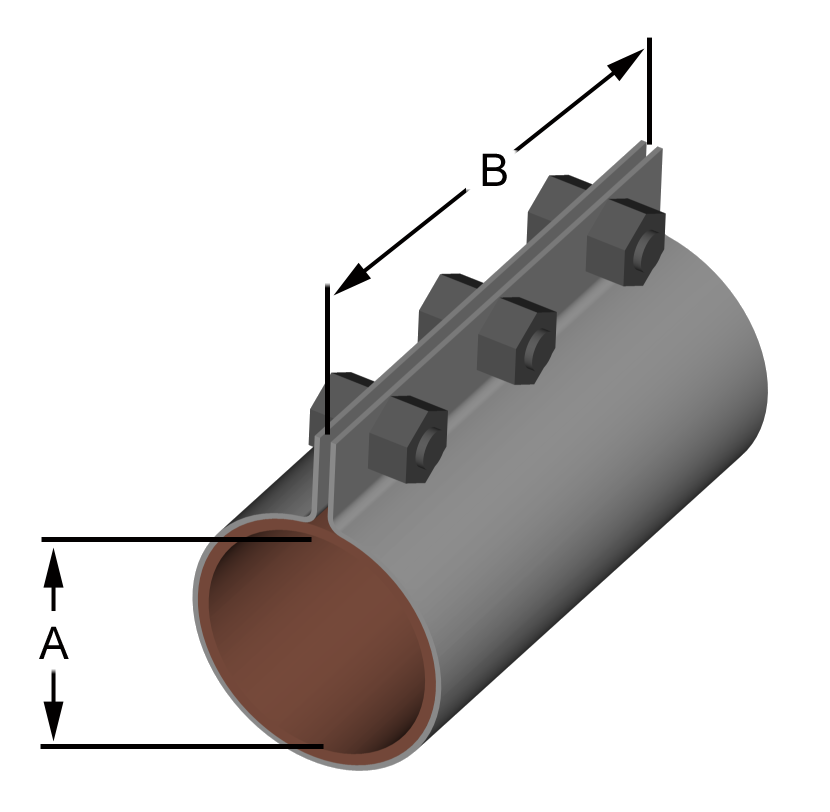 Compression couplings for rigid duct