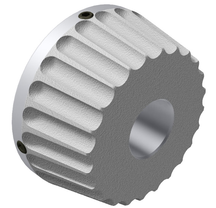 "Front view of 6"" Aluminum Core Cone"
