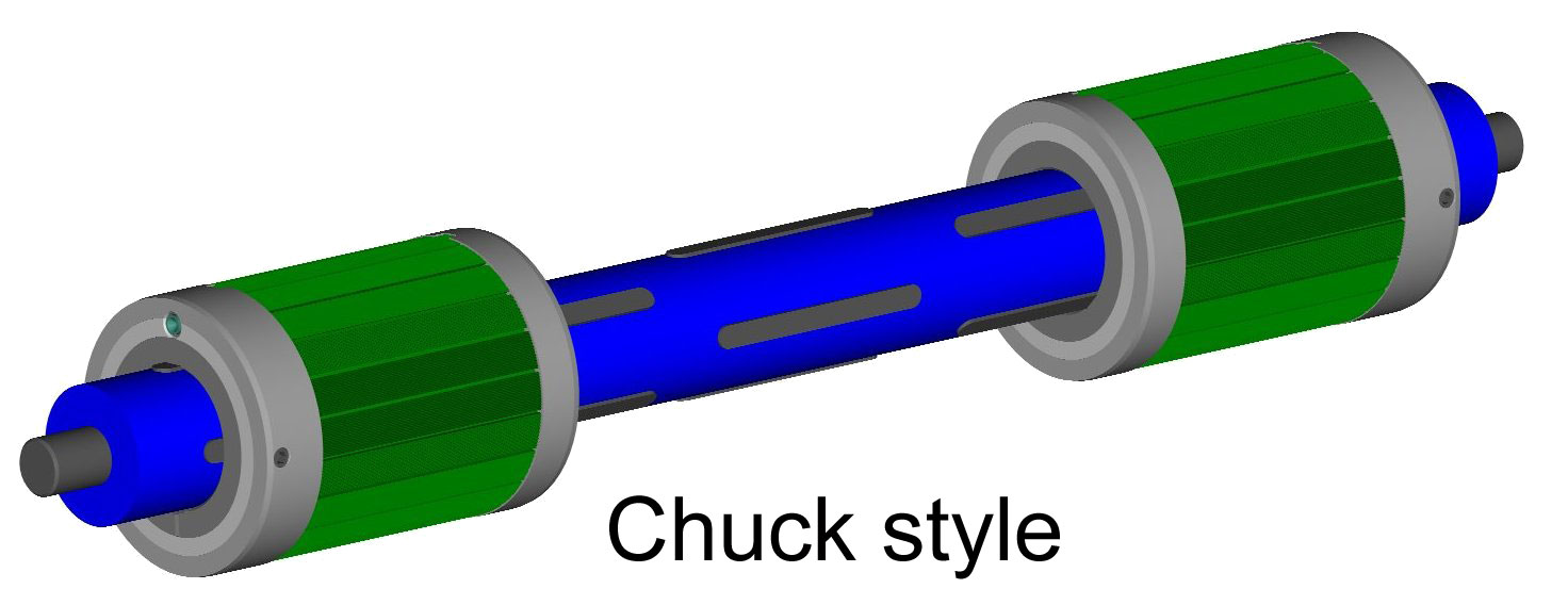 Chuck style core adapters