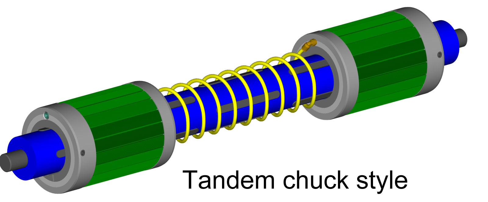 Tandem Chuck style core adapters