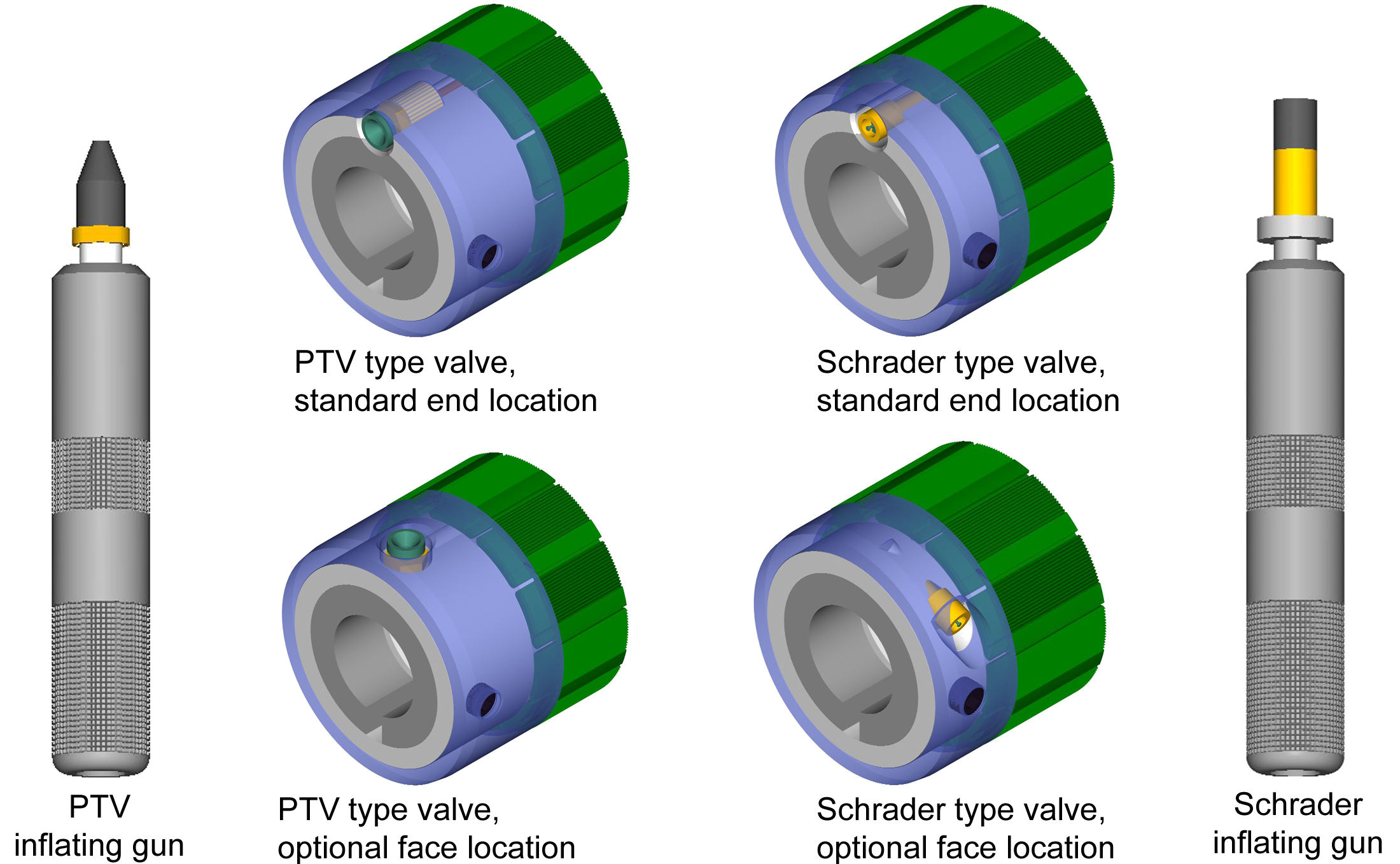 COR-LOK&reg air shaft and chuck valve options