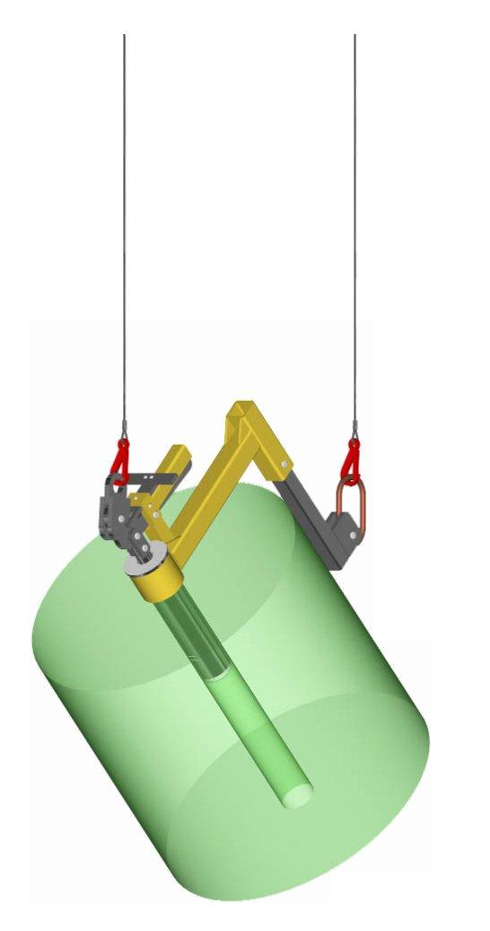 a.Compact adjustable L-Roll Pivot Arm