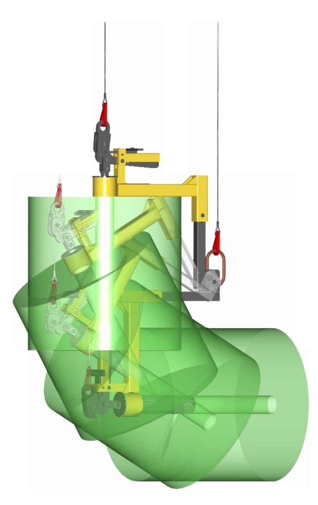 c. Large adjustable L-Roll Pivot Arm